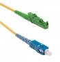 Патч-корд волоконно-оптический (шнур) SM 9/125 (OS2), E2000/APC-SC/UPC, simplex, LSZH, 15 м Hyperline