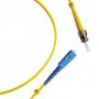 Патч-корд волоконно-оптический (шнур) SM 9/125 (OS2), SC/UPC-ST/UPC, 2.0 мм, simplex, LSZH, 1 м Hyperline
