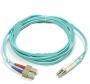 Патч-корд волоконно-оптический XGLO, MM 50/125 (OM3), LC-SC, duplex, LSOH (IEC 60332-3C), 1 м, аква Siemon