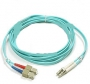 Патч-корд волоконно-оптический XGLO, MM 50/125 (OM3), LC-SC, duplex, LSOH (IEC 60332-3C), 3 м, аква Siemon