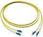 Патч-корд волоконно-оптический XGLO, SM (OS1/OS2), LC/UPC-LC/UPC, duplex, LSOH (IEC 60332-3C), 3 м, желтый Siemon