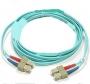 Патч-корд волоконно-оптический XGLO, MM 50/125 (OM3), SC-SC, duplex, LSOH (IEC 60332-3C), 1 м, аква Siemon