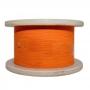 Кабель волоконно-оптический 50/125 (OM2) многомодовый, 1 волокно, simplex, плотное буферное покрытие (tight buffer) 0.9 мм, LSZH, оранжевый Hyperline