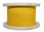 Кабель волоконно-оптический 9/125 (SMF-28) одномодовый, 1 волокно, simplex, плотное буферное покрытие (tight buffer) 0.9 мм, LSZH, желтый Hyperline
