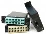 Волоконно-оптическая кассета 2xMTP (папа), 120x32 мм, 24LC адаптера (цвет aqua), 24 волокна, OM4 Hyperline