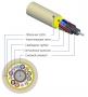Кабель волоконно-оптический 9/125(OS2) одномодовый, 24 волокна, безгелевые микротрубки 1.06 мм (micro bundle), для внутренней прокладки, LSZH IEC 60332-3, –20°C – +70°C, желтый Hyperline