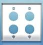 Панель лицевая для 4-х промышленных модулей, IP67, нержавеющая сталь Hyperline