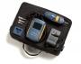 Видеомикроскоп FiberInspector Mini. Включает детектор и дисплей волокон, адаптер переменного тока/зарядное устройство для батарей, наконечники адаптера детектора ST, SC, универсальный наконечник 2,5 мм для коммутационного шнура и мягкий кейс для транс-ки