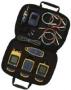 В комплект входит FQM-KIT и визуальный определитель неисправности волокна Visual Fault Locator с универсальным адаптером 2,5 мм, мини видео микроскоп, измеритель оптической мощности (SimpliFiber Pro Power Meter), и многомодовый источник сигнала