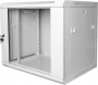 """Шкаф настенный 19"""", 6U, 600х600х368 мм, стеклянная дверь, серый GYDERS"""