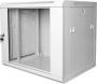 """Шкаф настенный 19"""", 9U, 600х600х501 мм, стеклянная дверь, серый GYDERS"""