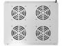 Блок вентиляторов потолочный для шкафов глубиной 800мм, 4 вентилятора, серый GYDERS