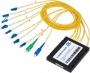 Мультиплексор/демультиплексор GIGALINK CWDM одноволоконный, 4 канала верхнего диапазона 1470-1610 нм + порт расширения, пластик, патчкорд 3 мм, коннекторы LC