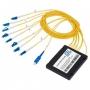 Мультиплексор CWDM GIGALINK, блок нижнего диапазона на 4 канала (1310-1450 нм)(LC/UPC) + COM порт SC/UPC, пластик (GL-CWDM-MUX-C8CH-14)