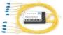 Мультиплексор CWDM GIGALINK, блок верхнего диапазона на 4 канала (1470-1610 нм)(LC/UPC) + COM порт SC/UPC + порт расширения SC/UPC, пластик (GL-CWDM-MUX-4-R1470/T1610)