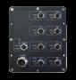 Коммутатор управляемый L2, для водного транспорта IP67, 8 портов 10/100 мб/с M12, 2 порт 1LC 100mbs 20km, 802,11af 1 порт (номер 4), WEB/Console/SNMP, DIN, -40C, питание 6,5~57В (PoE 43~57В)