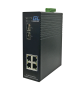 Коммутатор GIGALINK, управляемый L2, индустриальный на DIN рейку, 4 PoE (802.3af/at) портов 100Мбит/с, 2 SFP/1000BaseX, 48В (питание поставляется отдельно 120 ватт)