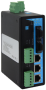 Промышленный управляемый коммутатор, 3*10/100Base-T, 2*100Base-FX (SC), до20км, 2*RS-485, -40+70С, DC12~48v