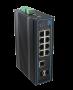 Коммутатор GIGALINK, неуправляемый, индустриальный на DIN рейку, 2 PoE (BT 60W) 6 PoE (802.3af/at) портов 10/100/1000Мбит/с, 2*SFP/1000BaseT, 48В (питание поставляется отдельно 60-320 ватт)