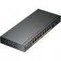 Smart коммутатор PoE+ Zyxel GS1900-10HP, 8xGE PoE+, 2xSFP, настольный, бесшумный, бюджет PoE 77 Вт