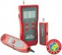 Кабельный тестер для витой пары, коаксиала, LCD дисплей, разъемы RJ-12, RJ-45, BNC, USB, измерение длины Hyperline