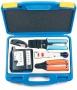 Набор инструментов (инструмент обжимной для RJ-45, RJ-12, инструмент для заделки витой пары 110 типа, обрезка, зачистка, тестер) Hyperline