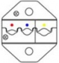 Сменные губки для HT-336FM (AWG22-18/16-14/12-10), DIN 1.25/2.0/5.5 мм Hyperline