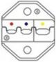 Губки для HT-336FM для обжима изолированных наконечников (AWG22-18/16-14/12-10), DIN 0.5-1.0/1.5-2.5/4-6mm. Hyperline