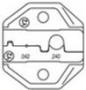 """Губки для HT-336FM для обжима изолированных наконечников или феррулов, овального типа (.042""""/.24"""")1.07/6.10mm  Hyperline"""