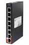 Коммутатор PoE промышленный неуправляемый, Slim Type 8x10/100TX PoE+(30Watts), DIN-rail, без БП