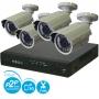 """Комплект видеонаблюдения """"Эконом 4"""" 4-х канальный видеорегистратор D1 + 4 наружные видеокамеры CMOS 600 TVL"""