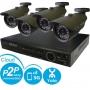 Комплект видеонаблюдения стандарт 4 700ТВЛ (ДАЧА): 4-х канальный видеорегистратор D1 + 4 наружные видеокамеры SONY Effio-E 700 TVL, блок питания, 4 кабеля с разъемами по 18 м. и необходимые аксессуары