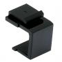 Вставка-заглушка формата Keystone Jack, черная Hyperline