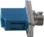 Розетка оптическая переходная LC-FC, одномодовая, корпус металл