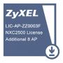Лицензия Zyxel на увеличение числа управляемых точек доступа (8 AP) для NXC2500. Доставка по электронной почте.