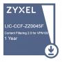 Подписка на сервис Zyxel CF (контентная фильтрация) сроком 1 год для VPN100  /  LIC-CCF, 1 YR Content Filtering 2.0 License for VPN100