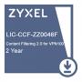 Подписка на сервис Zyxel CF (контентная фильтрация) сроком 2 года для VPN100  /  LIC-CCF, 2 YR Content Filtering 2.0 License for VPN100