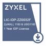 E-iCard 1 YR IDP License for ZyWALL1100 & USG1100. Карта подключения услуги обновления базы предотвращения вторжений для ZyWALL 1100 и USG 1100 на один год.