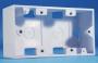 Настенная коробка под лицевую панель 80x148 мм Hyperline