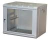 """Шкаф настенный 19"""" 9U 600х450х501, стеклянная дверь, серый MAXYS"""