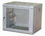 """Шкаф настенный 19"""" 15U 600х450х769, стеклянная дверь, серый MAXYS"""