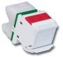 MAX-Модуль угловой, Т568А/В, S310., кат.6 UTP, рез. шторка, ярко-белый Siemon