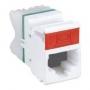 MAX Модуль, UTP, прямой, категория 6, T568A/B, с колпачком, белый (из уп. 100 шт., без индивидуальной упаковки) Siemon