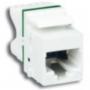 MAX-Модуль Keystone, T568A/B, , кат.6 UTP, с колпачком, белый (из уп. 100 шт., без индивидуальной упаковки) Siemon