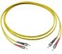 Комплект из трех эталонных одномодовых перемычек для кабелей с коннекторами ST