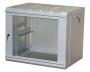 """Шкаф настенный 19"""" 9U 600х450х501, стеклянная дверь, серый Net-Link"""