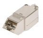 Модуль-вставка NIKOMAX типа Keystone, угловой, для панели серии AN, Кат.6a (Класс Ea), 500МГц, RJ45/8P8C, FT-TOOL/110/KRONE, T568A/B, полный экран, металлик - гарантия: 5 лет расширенная / 25 лет системная