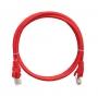 Коммутационный шнур NIKOMAX U/UTP 4 пары, Кат.5е (Класс D), 100МГц, 2хRJ45/8P8C, T568B, заливной, с защитой защелки, многожильный, BC (чистая медь), 24AWG (7х0,205мм), LSZH нг(А)-HFLTx, красный, 0,3м
