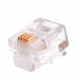 Коннектор NIKOMAX RJ11/6P4C телефонный, Кат.3 (Класс C), 16МГц, покрытие 6мкд, под многожильный кабель, неэкранированный, уп-ка 100шт.