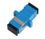 Адаптер NIKOMAX волоконно-оптический, соединительный, одномодовый 9/125мкм, SC/UPC-SC/UPC, одинарный, пластиковый, синий, уп-ка 2шт.